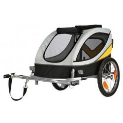 Roulotte de vélo M grise et jaune
