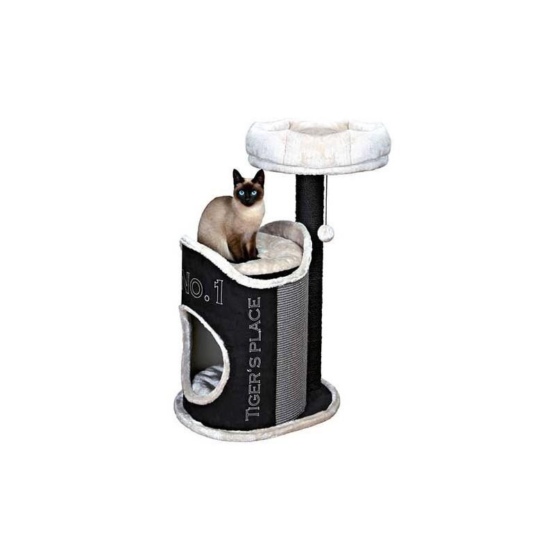 Arbre à chat Susana, 90 cm, noir/gris clair/gris