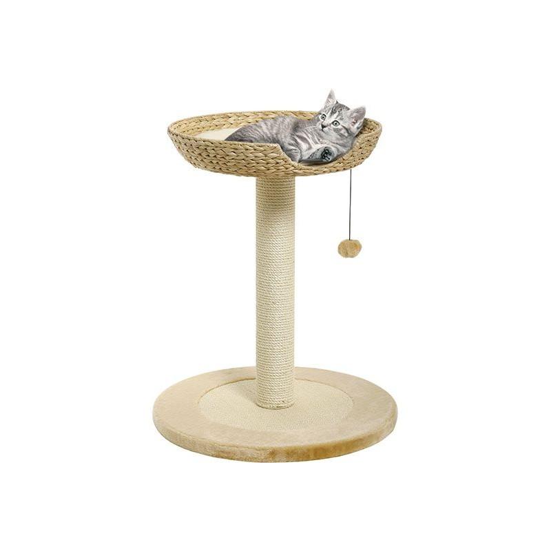 arbre chat en feuille de bananier i beige. Black Bedroom Furniture Sets. Home Design Ideas