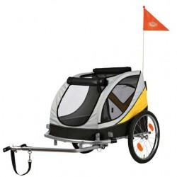 Roulotte de vélo L grise et jaune