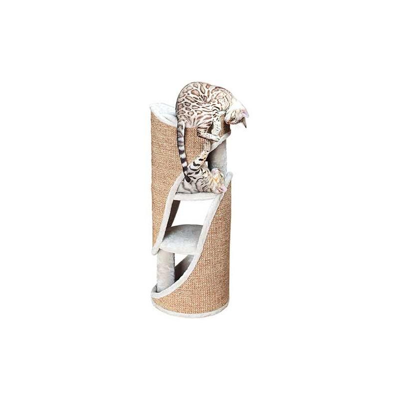 Tour pour chat Osana, 86 cm, gris clair/brun