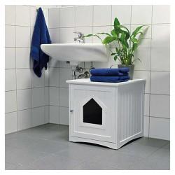 Cabine de toilette pour chat