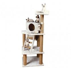 Arbre à chat Marlena 151 cm gris clair