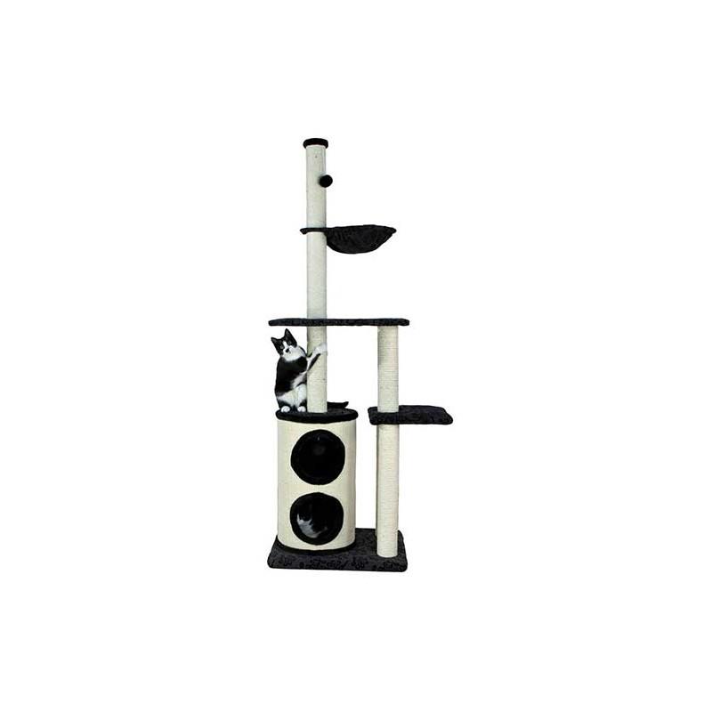 arbre chat maqueda 192 cm noir et naturel. Black Bedroom Furniture Sets. Home Design Ideas