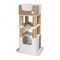 Arbre à chat Lucano 110 cm blanc et taupe