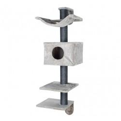 Arbre à chat Dayna, à monter contre un mur, 152 cm, gris
