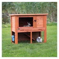 Natura clapier pour lapin, avec enclos,
