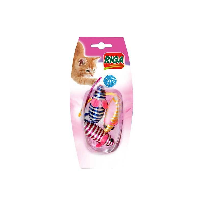 Souris colorées x 3 jouet pour chat
