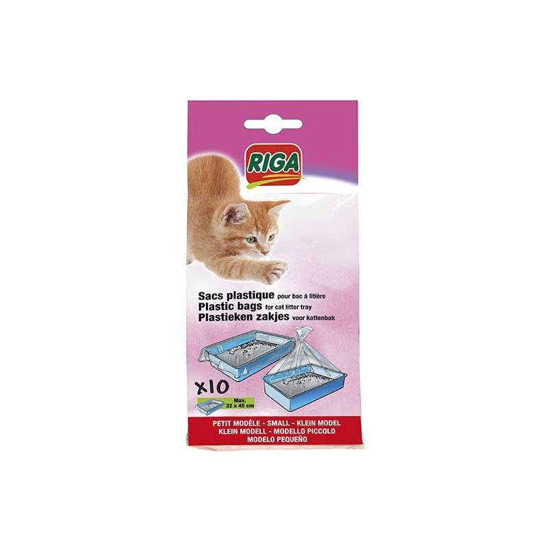 Sachets plastiques bac à chat petit modèle par 10
