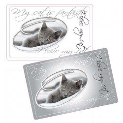 "Sets de protection pour chat x 2 ""I LOVE MY CAT"""