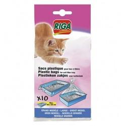Sachets plastiques bac à chat grand modèle