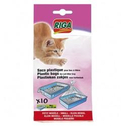 Sachets plastiques litière pour chat avec poignées
