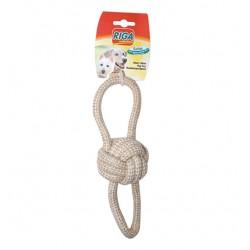 Jouet pour chien balle corde 2 boucles coton