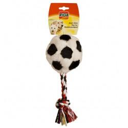 Ballon foot peluche + corde jouet pour chien
