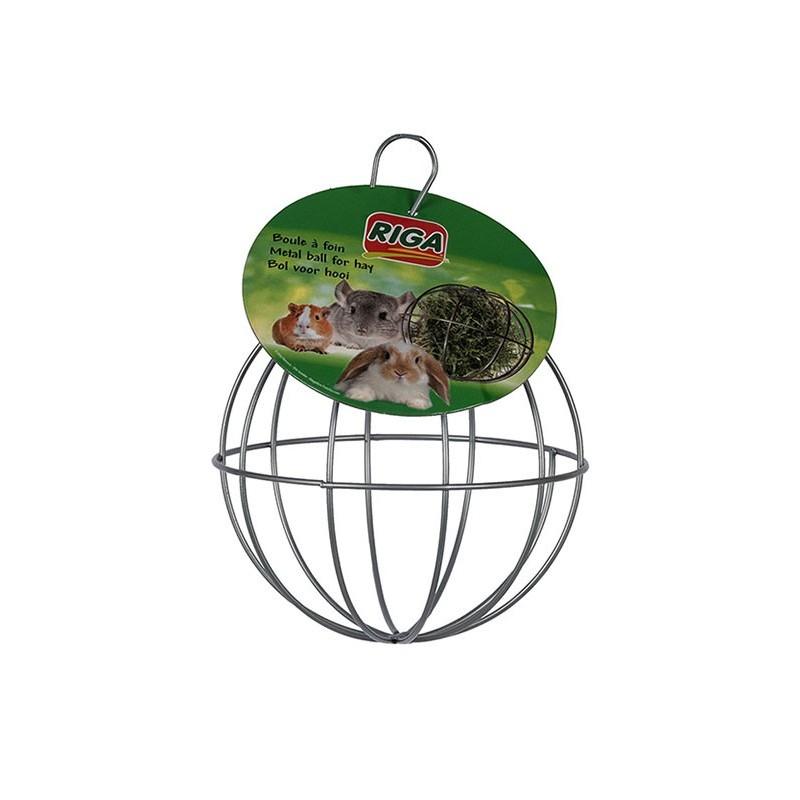 Boule métal pour foin 12cm de diamètre