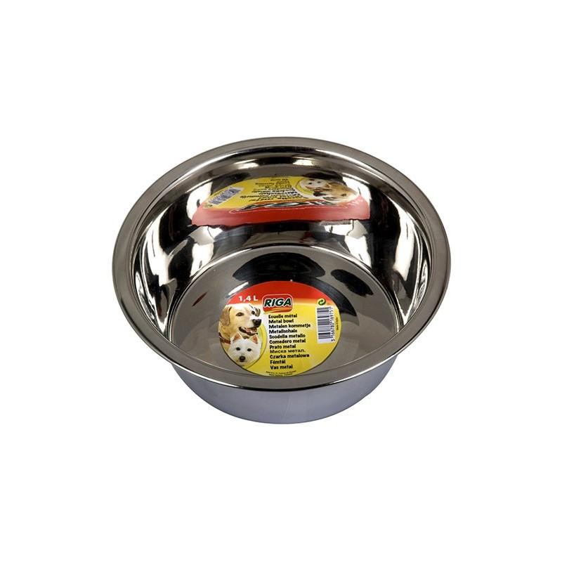 Ecuelle metal Chien - Diametre 21cm Soit 14 L