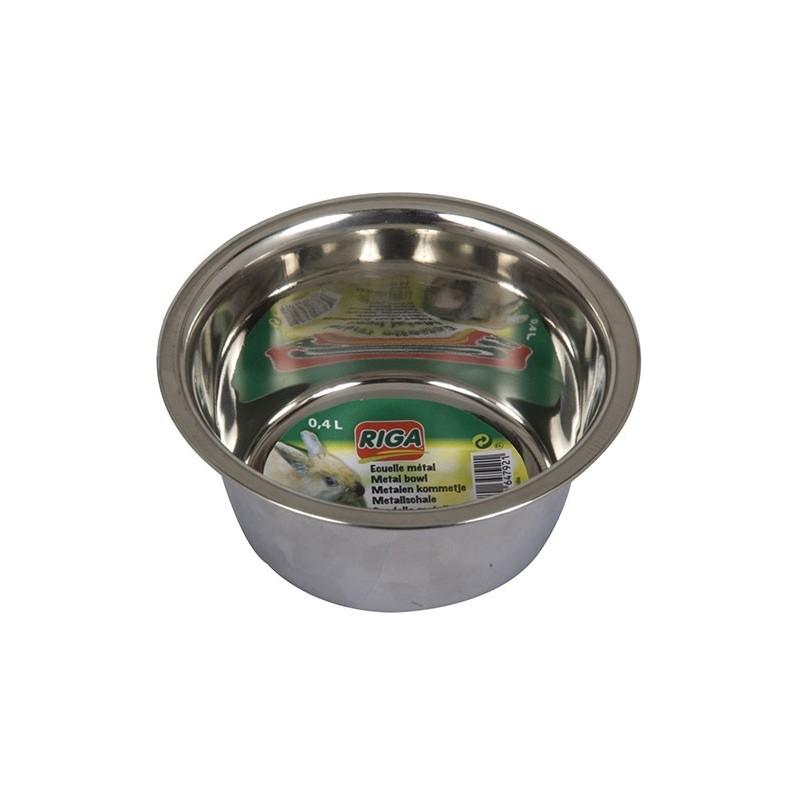 Ecuelle métal Cochon d'Inde/Lapin 40cl