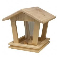 Mangeoire silo bois naturel