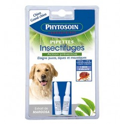 2 pipettes insectifuges chiens et grands chiens