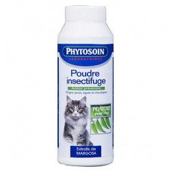 Poudre insectifuge chats
